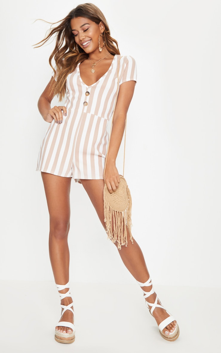 Stone Stripe Tortoise Shell Playsuit 4