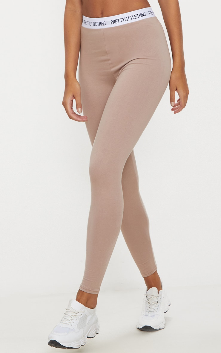 PRETTYLITTLETHING Taupe Leggings  2