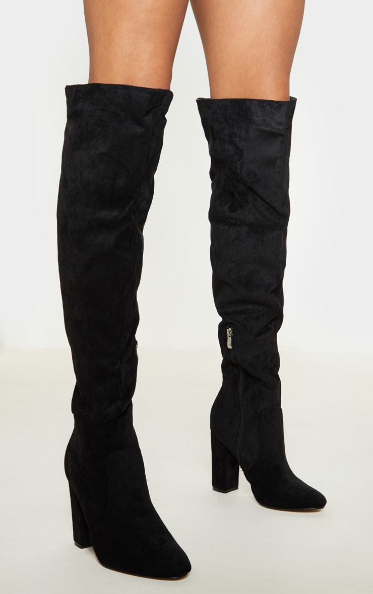 Black Over The Knee Behati Boot 1