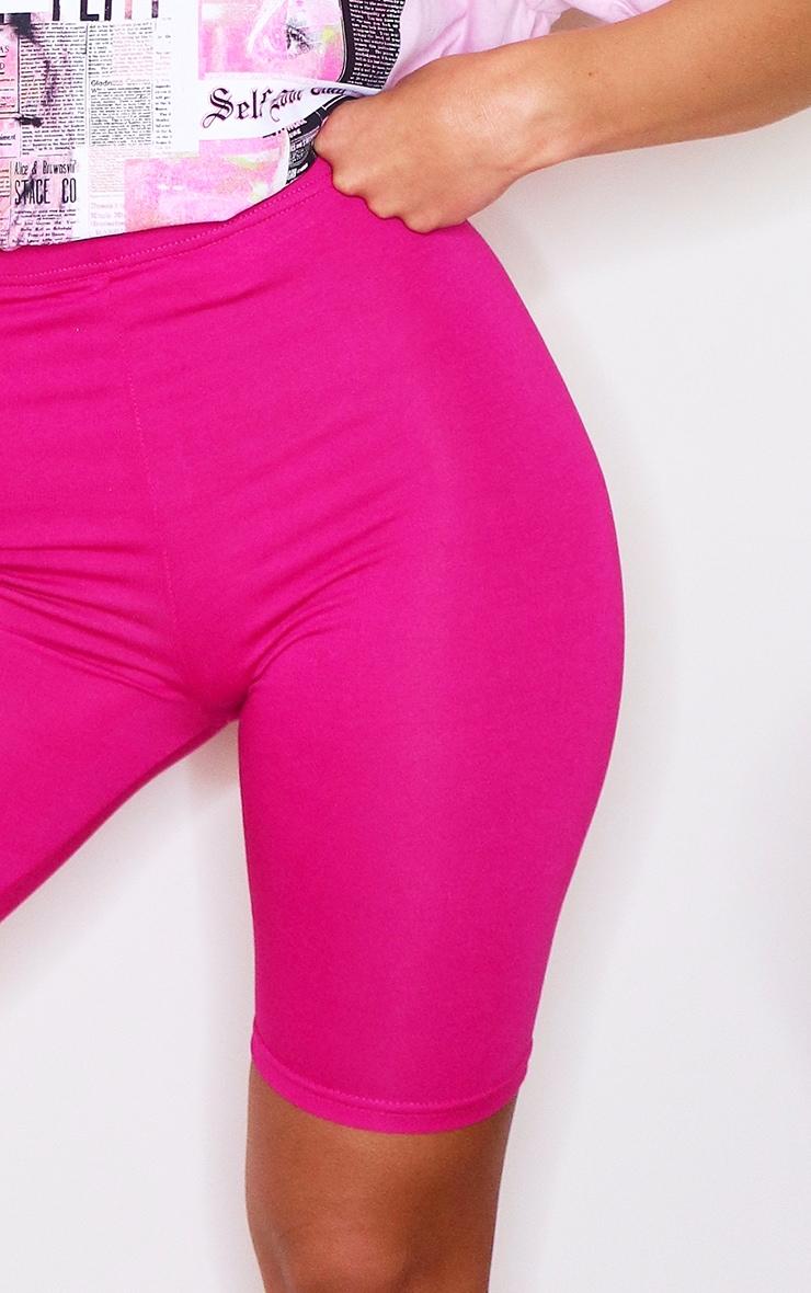 Hot Pink Basic Bike Shorts 5