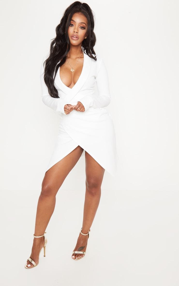 Shape White Blazer Dress 4