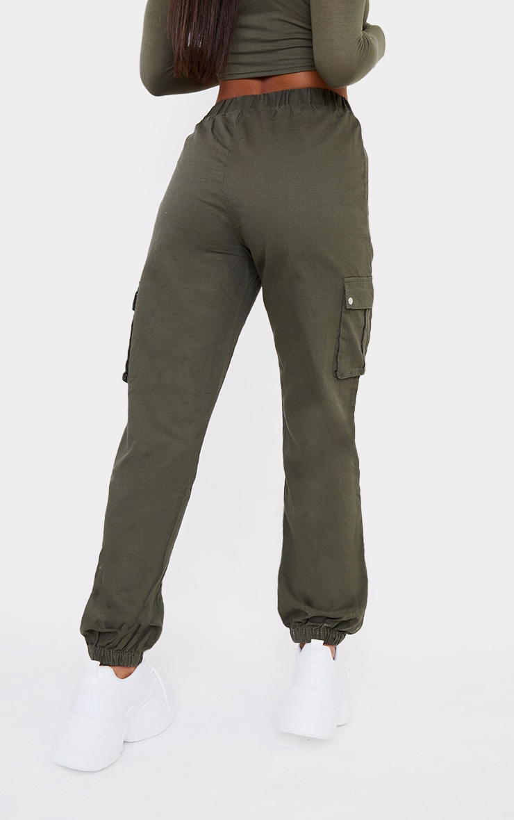 Khaki Pocket Detail Cargo Pants 3