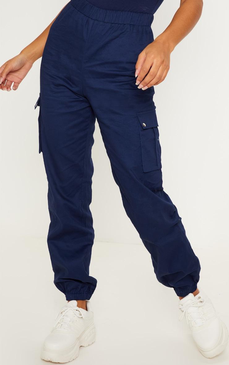 Navy Pocket Detail Cargo Trouser 2