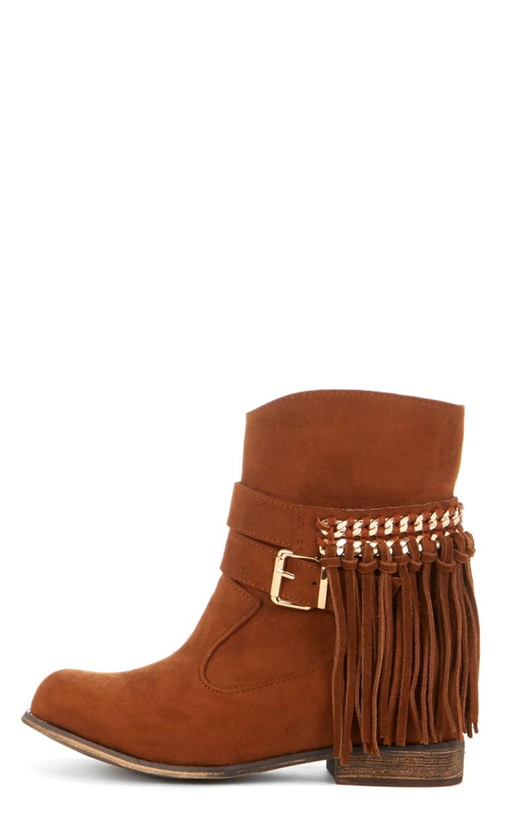 Trixie Tan Tassel Boots  1