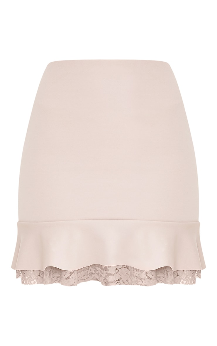 Kellen Taupe Lace Layer Mini Skirt 2