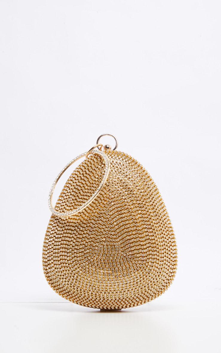 Gold Diamante Oval Bag 5