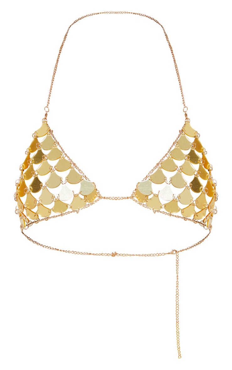 Gold Metallic Scale Bralet 3