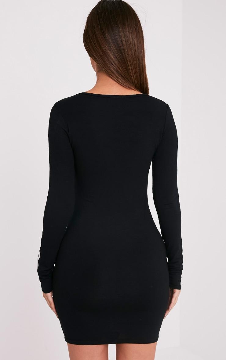 Nuala Black Skeleton Mini Dress 3