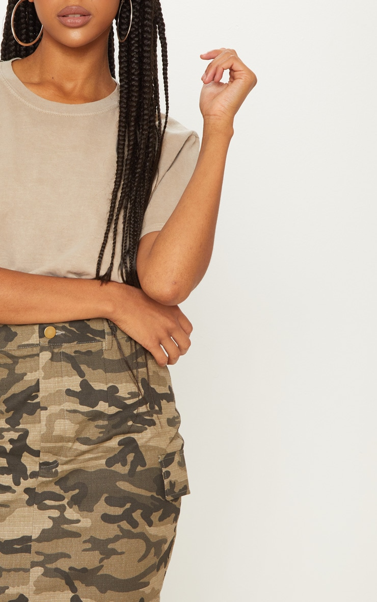 Green Cargo Camo Mini Skirt 6