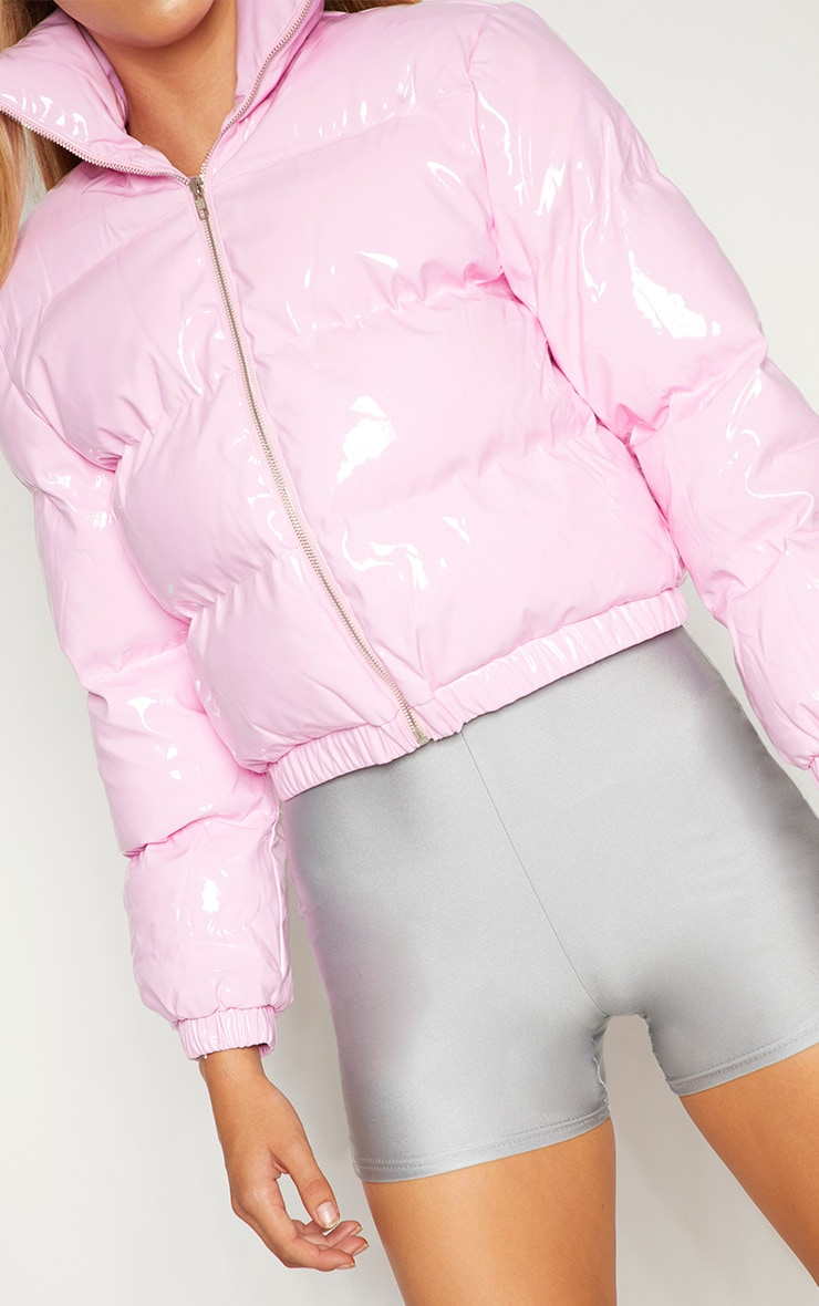 Pink Vinly Puffer 4