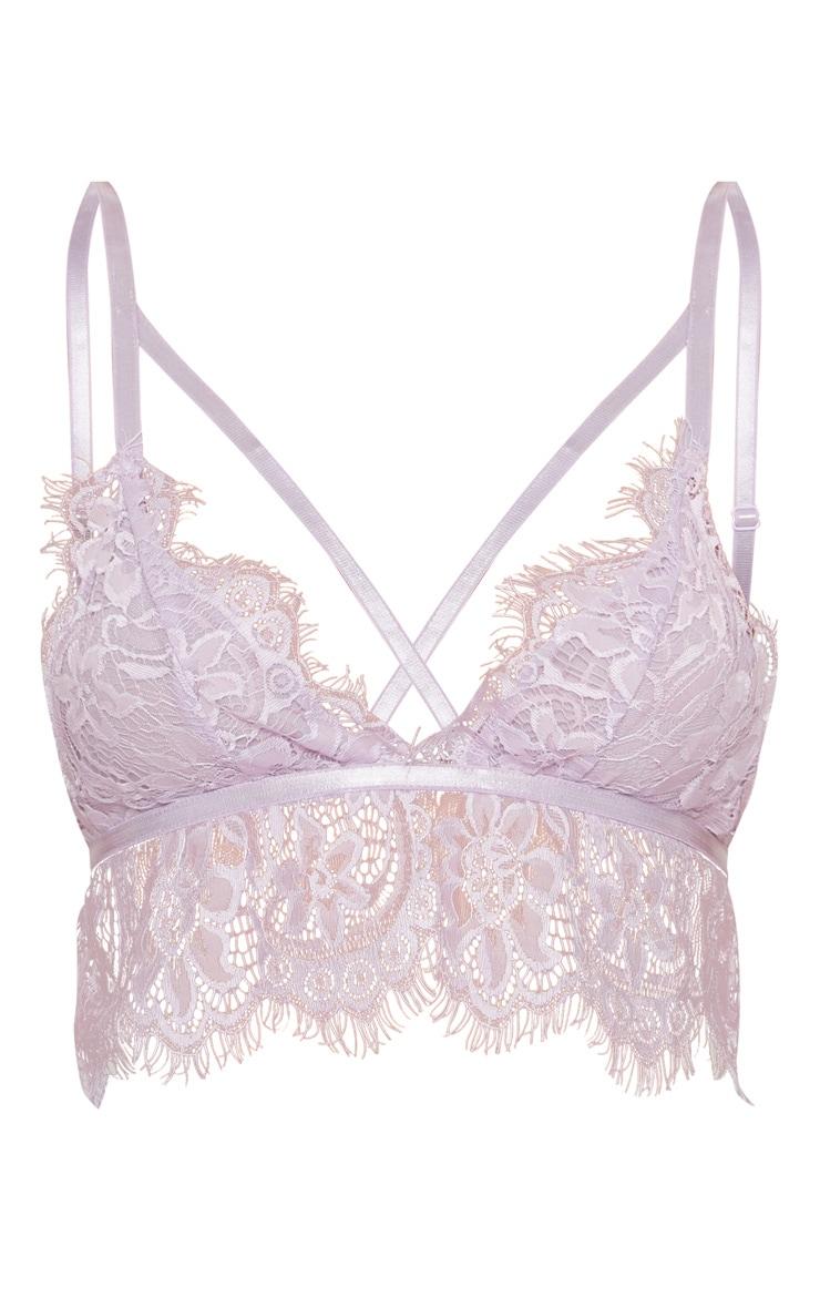 Purple Lace Harness Bralet 3