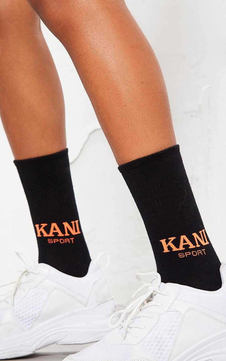 KARL KANI Black Sport Socks  3