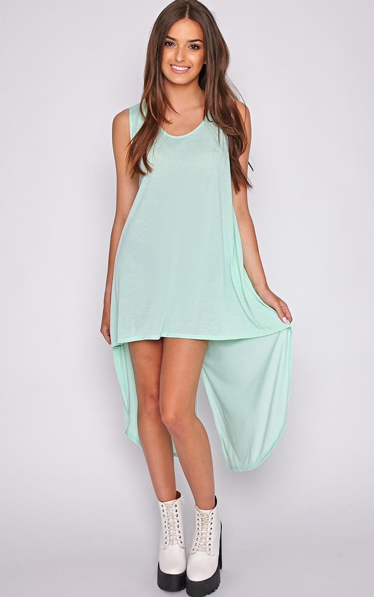 Skylar Mint Drop Hem Jersey Dress 4