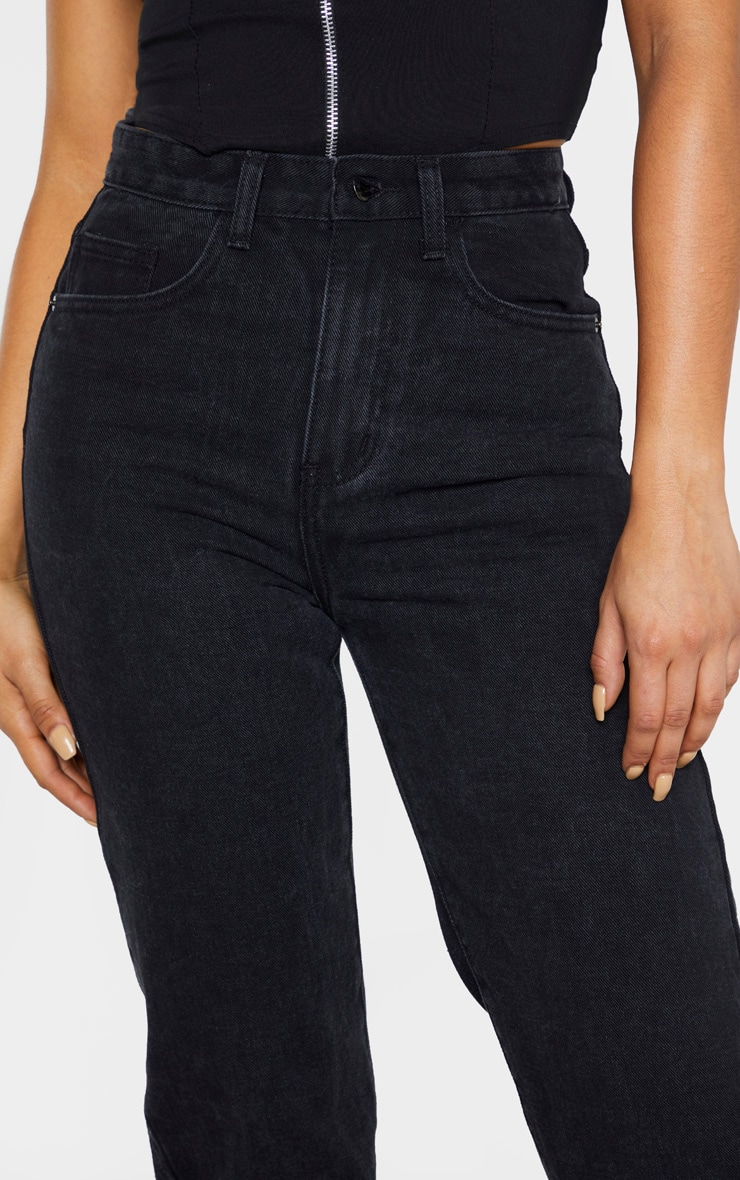 Tall Black Split Hem Jeans 5