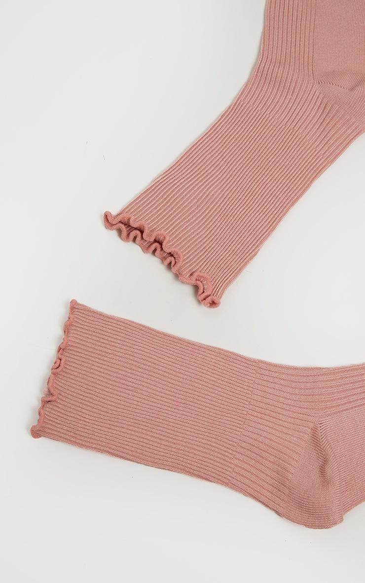 Pink Frill Socks 5