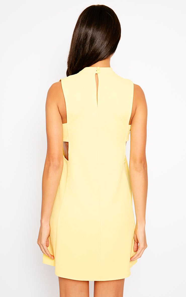 Rina Yellow Cut Out Tabard Dress 2