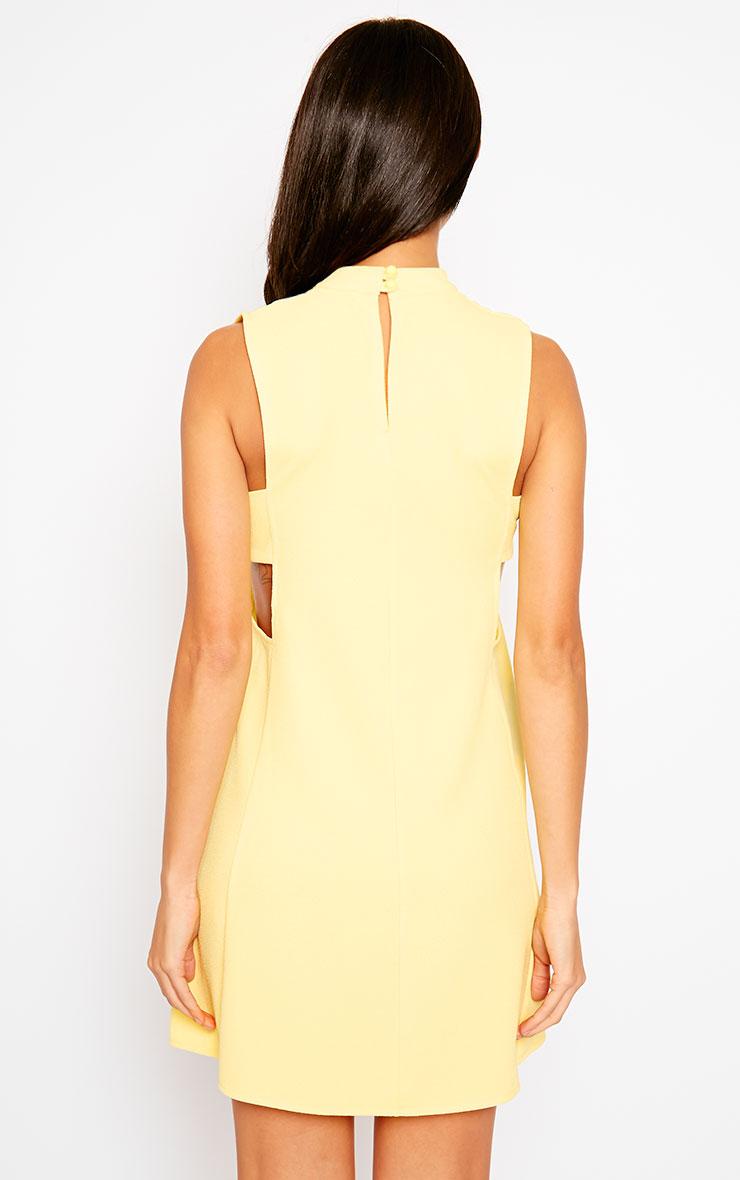 Rina Yellow Cut Out Tabard Dress 2