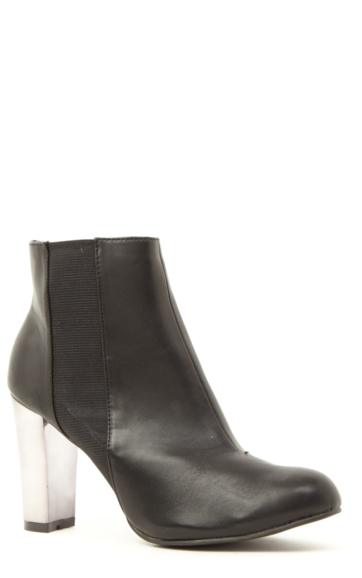 Alexa Black Pu Leather Chelsea Boots 4