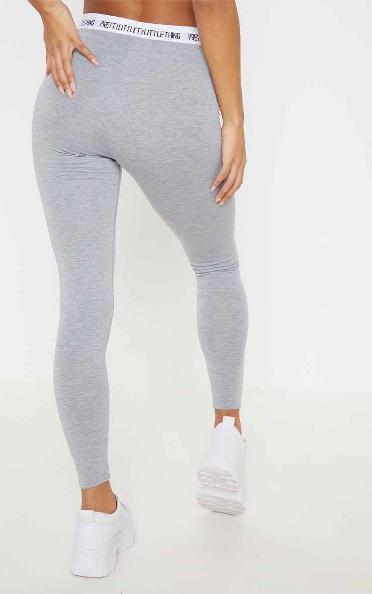 PRETTYLITTLETHING Grey Leggings 4