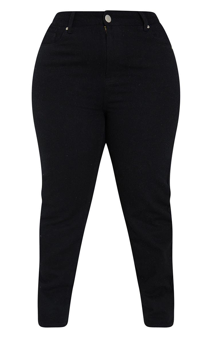 Plus Black Basic Straight Leg Jeans 5