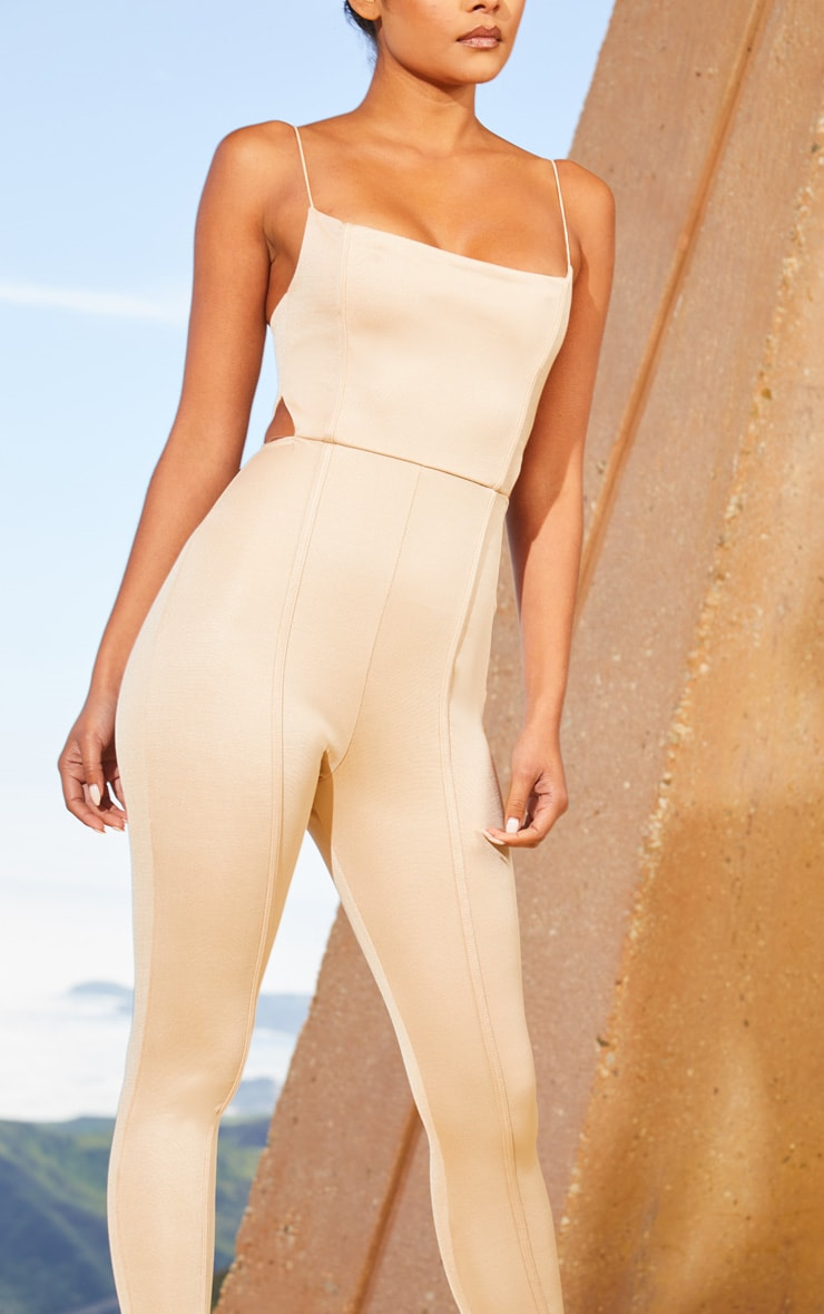 Nude Second Skin Cut Out Side Jumpsuit 5