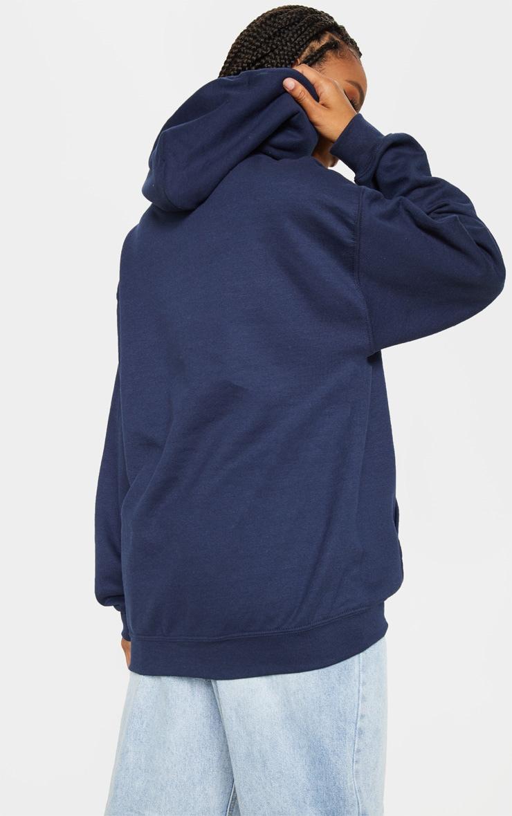 Hoodie bleu marine à slogan Canada 2