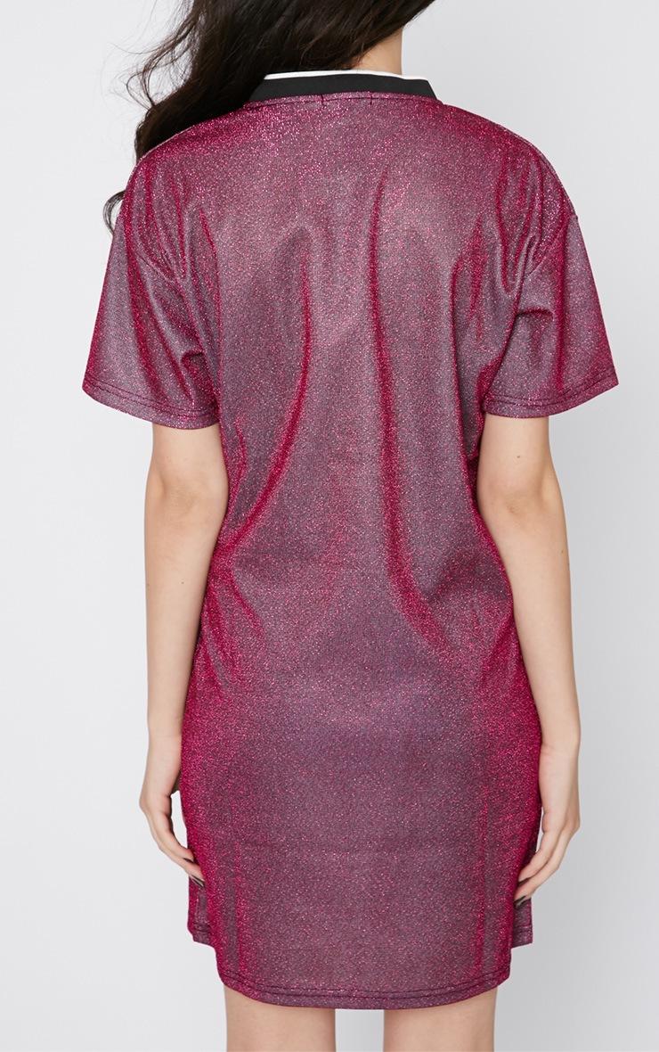 Luyu Pink Glitter Sporty Shift Dress 2
