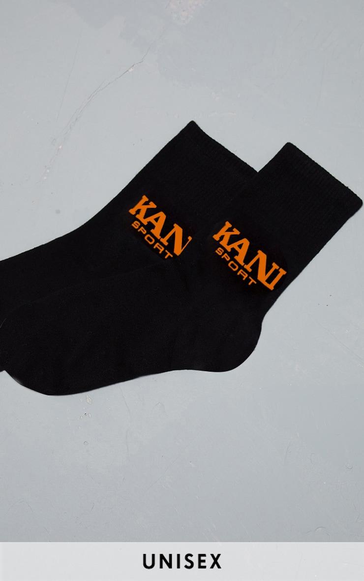 KARL KANI Black Sport Socks  1