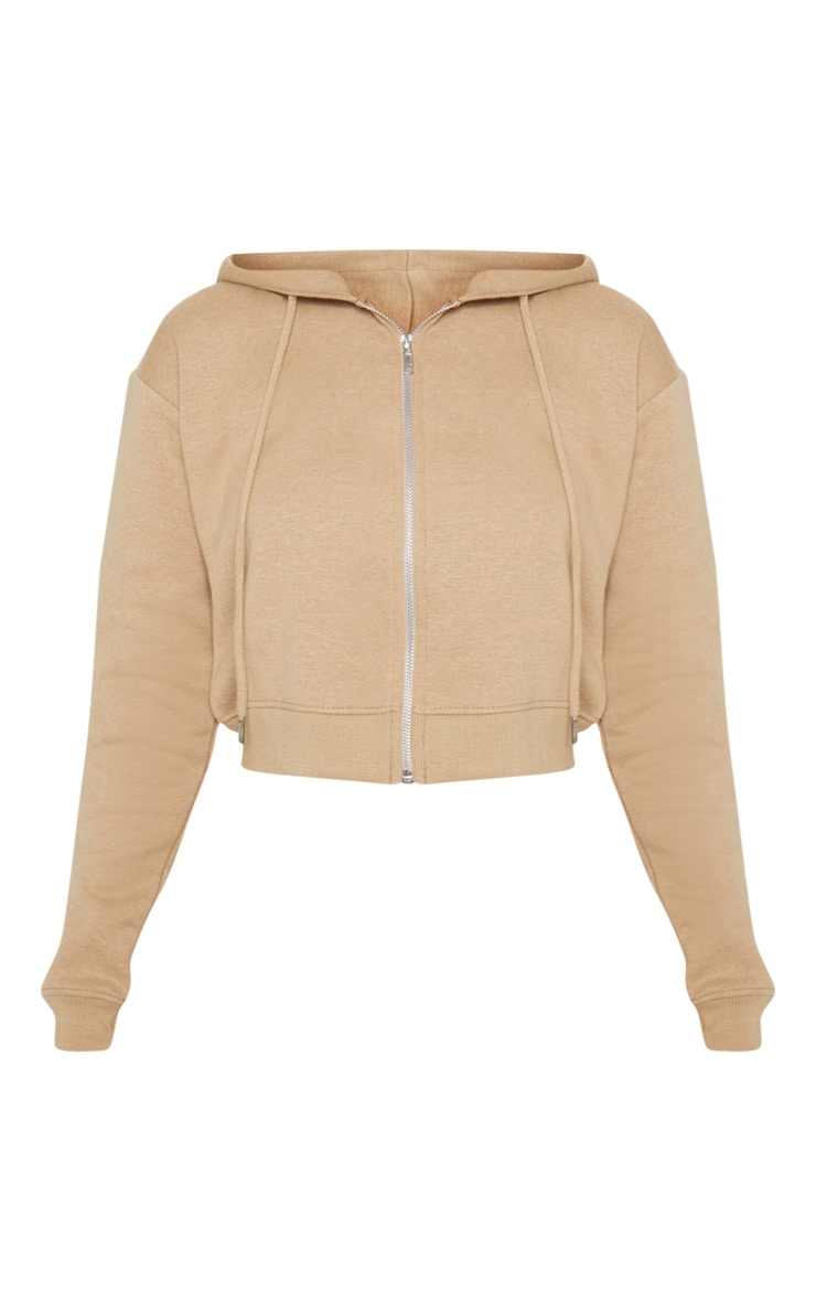 Hoodie court sable à zipper 3