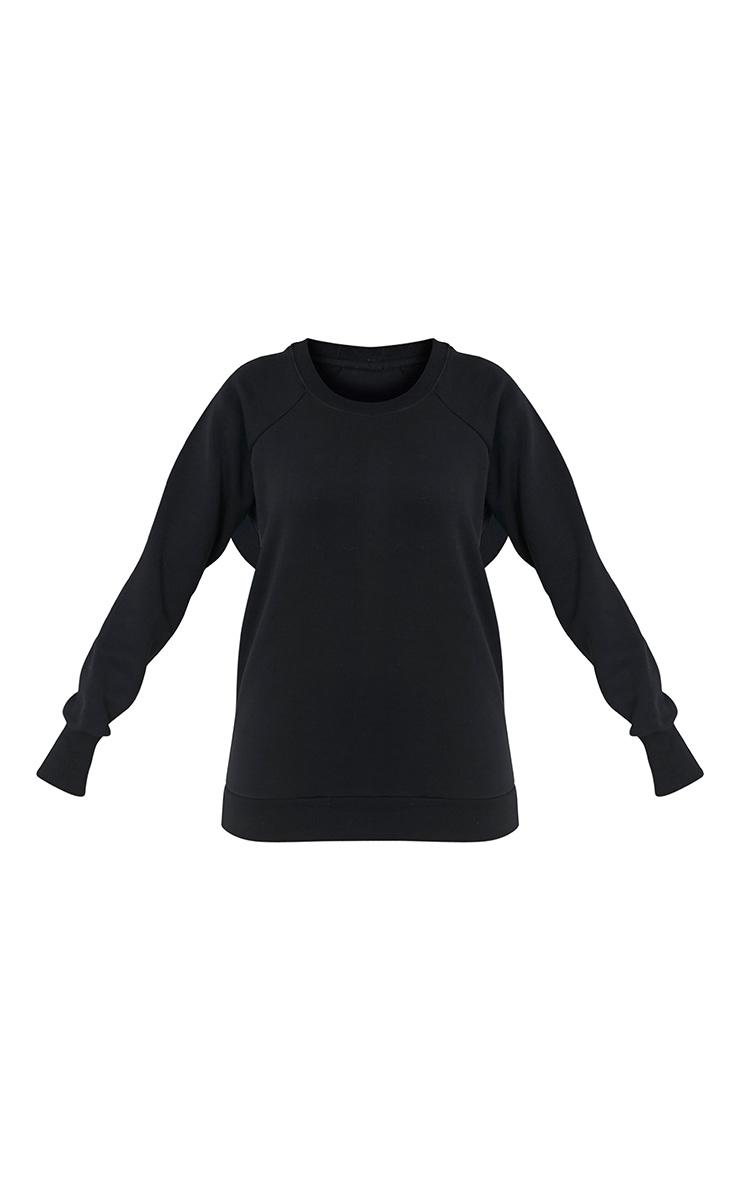 Lucina Black Crew Neck Longsleeve Sweatshirt 3