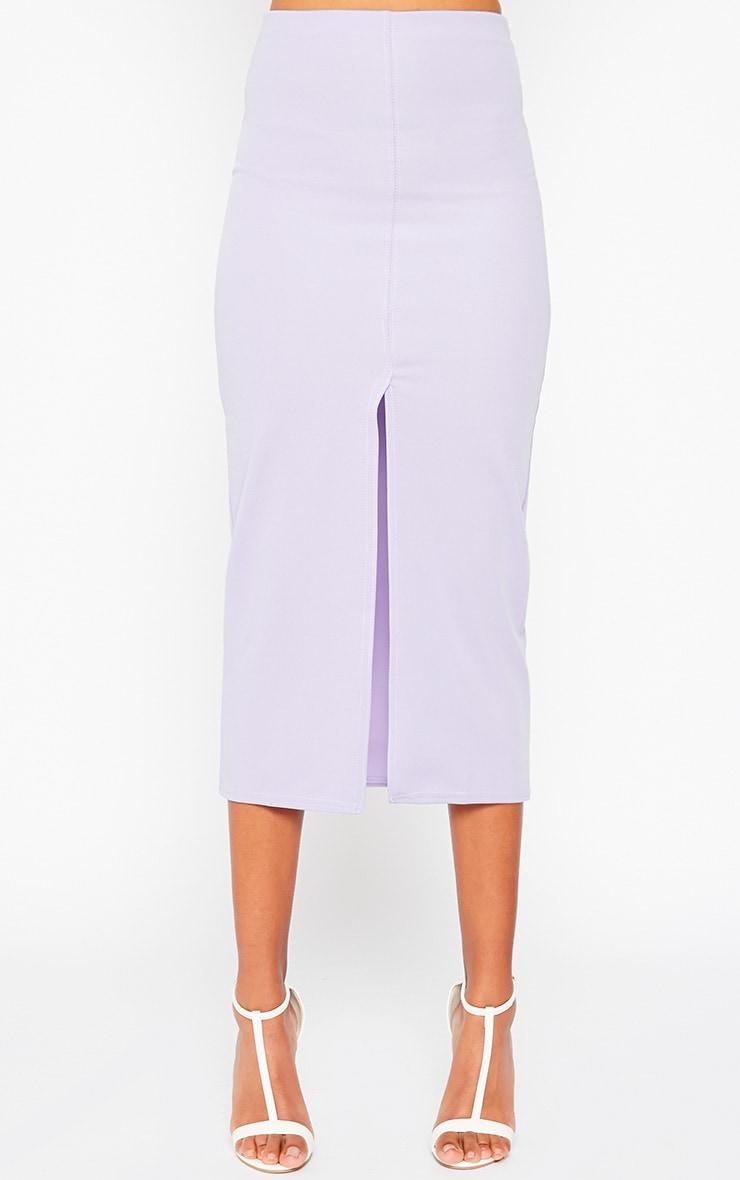 Kaja Lilac Scuba Split Skirt 3