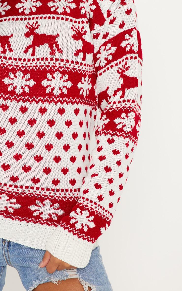 White Fairisle Knitted Sweater 5
