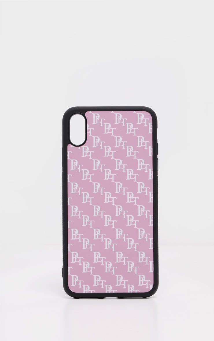 PRETTYLITTLETHING Baby Pink Monogram XMAX iPhone Case  2