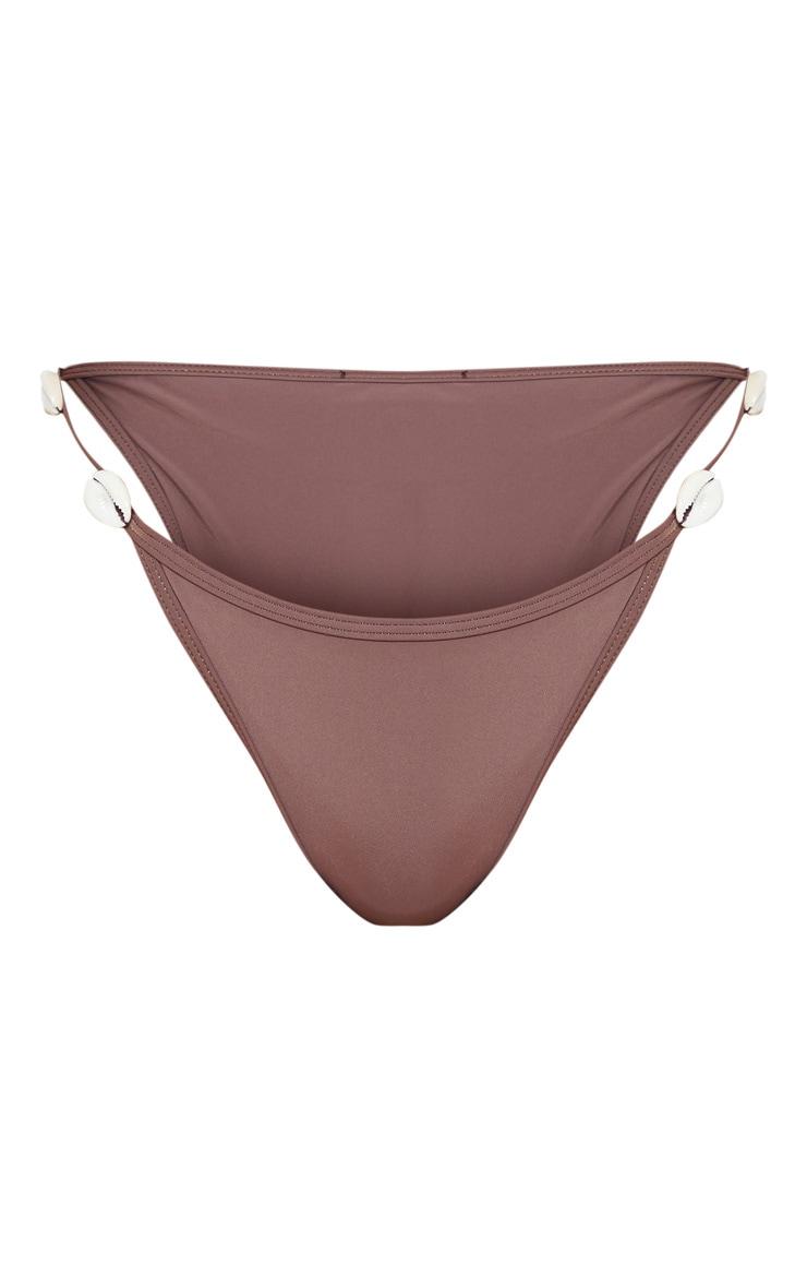 Brown Shell Trim Bikini Bottom 3