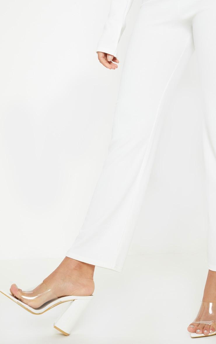 Petite White Kick Flare Pants 5