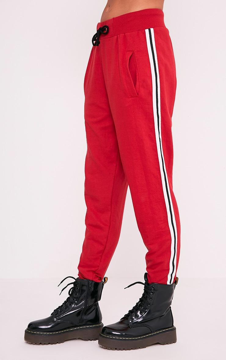 Gwen Red Side Stripe Joggers 4