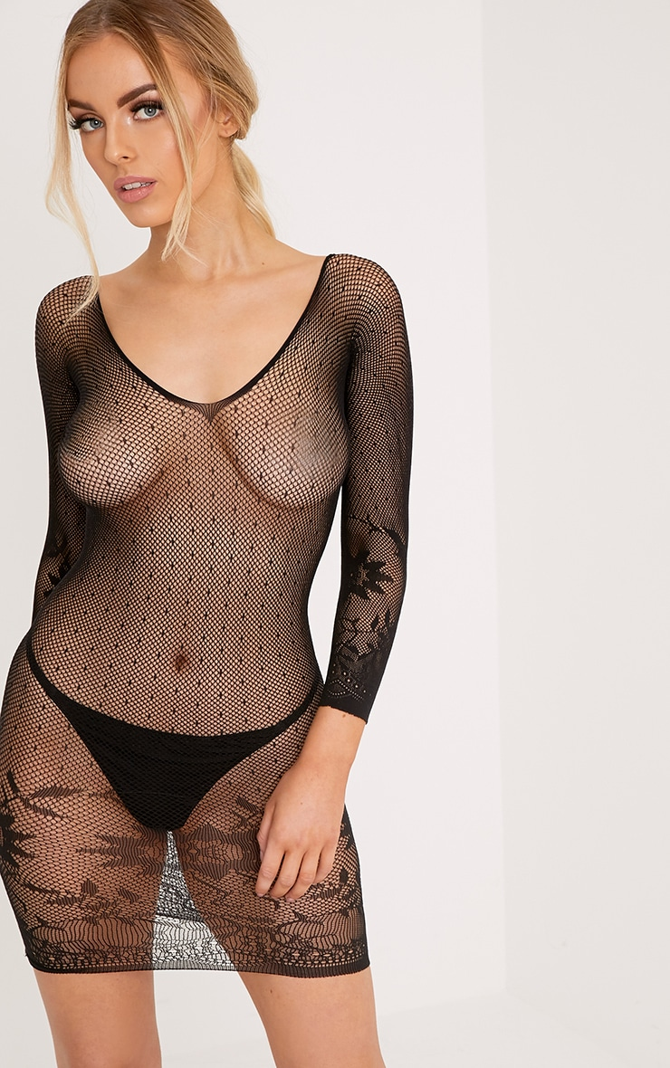 Black Fishnet Body Stocking 1