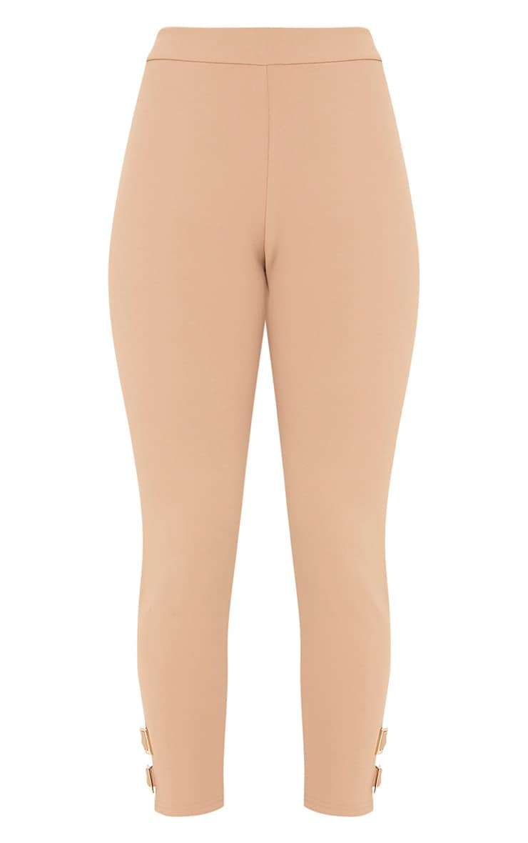 Orlane Taupe Buckle Fitted Trousers 3