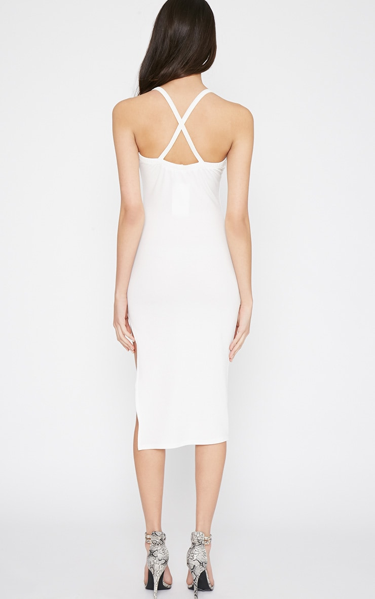 Tyler White Chain Strap Bodycon Dress 2