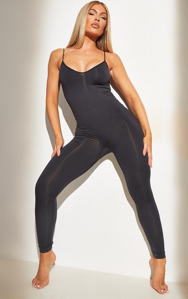 Black Shapewear Control Longline Body 1