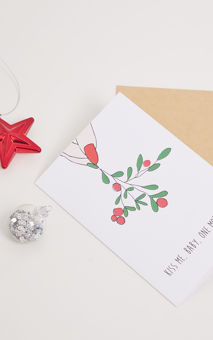 NOCTURNAL PAPER Kiss Me Baby Xmas Card 2