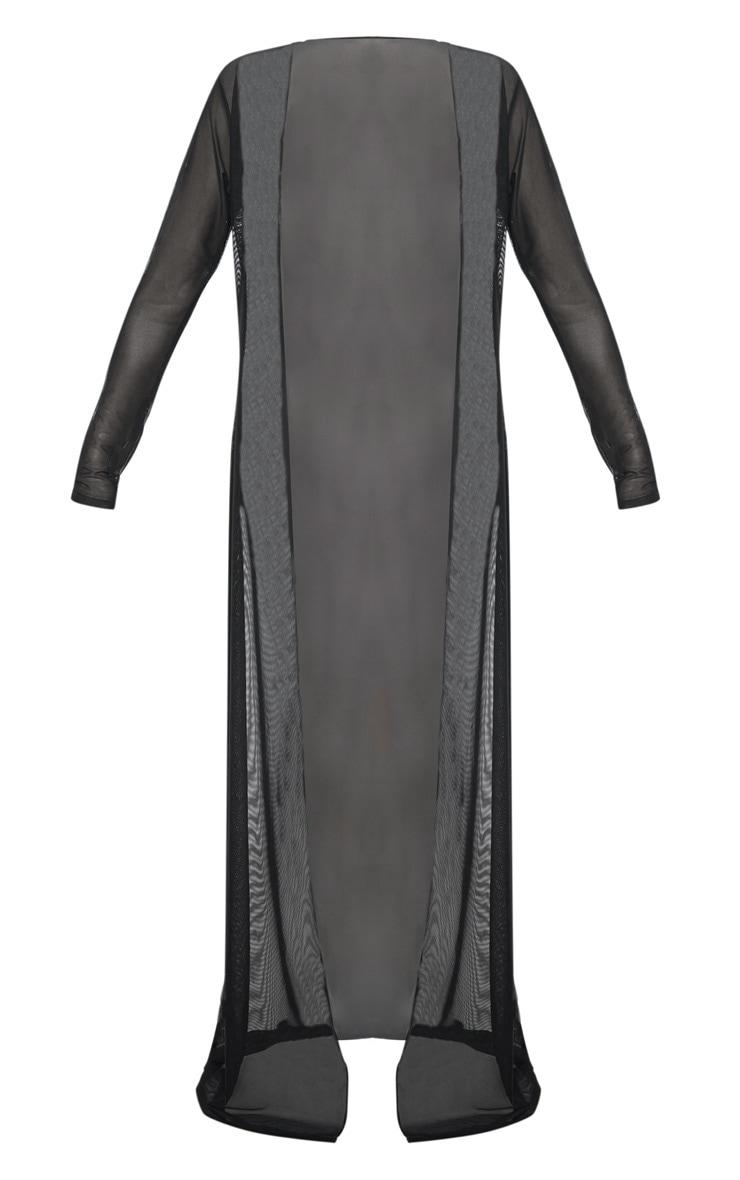 Plus Black Mesh Kimono 3