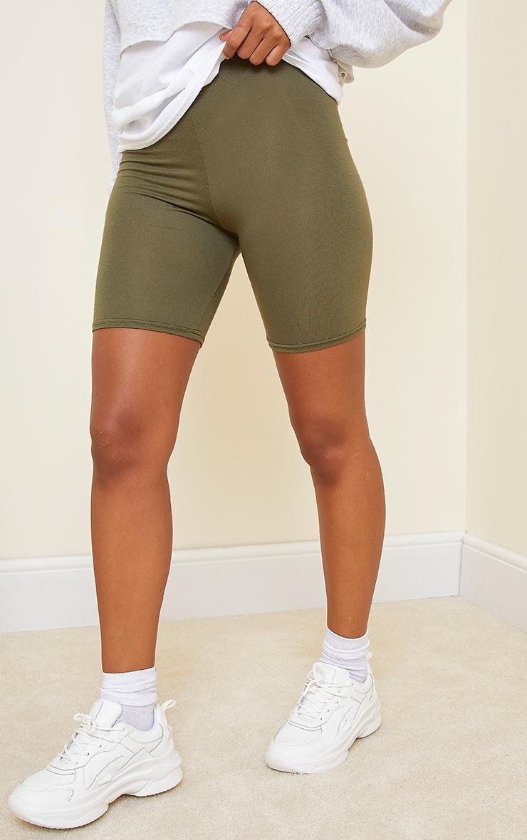 Khaki Basics Bike Shorts 2