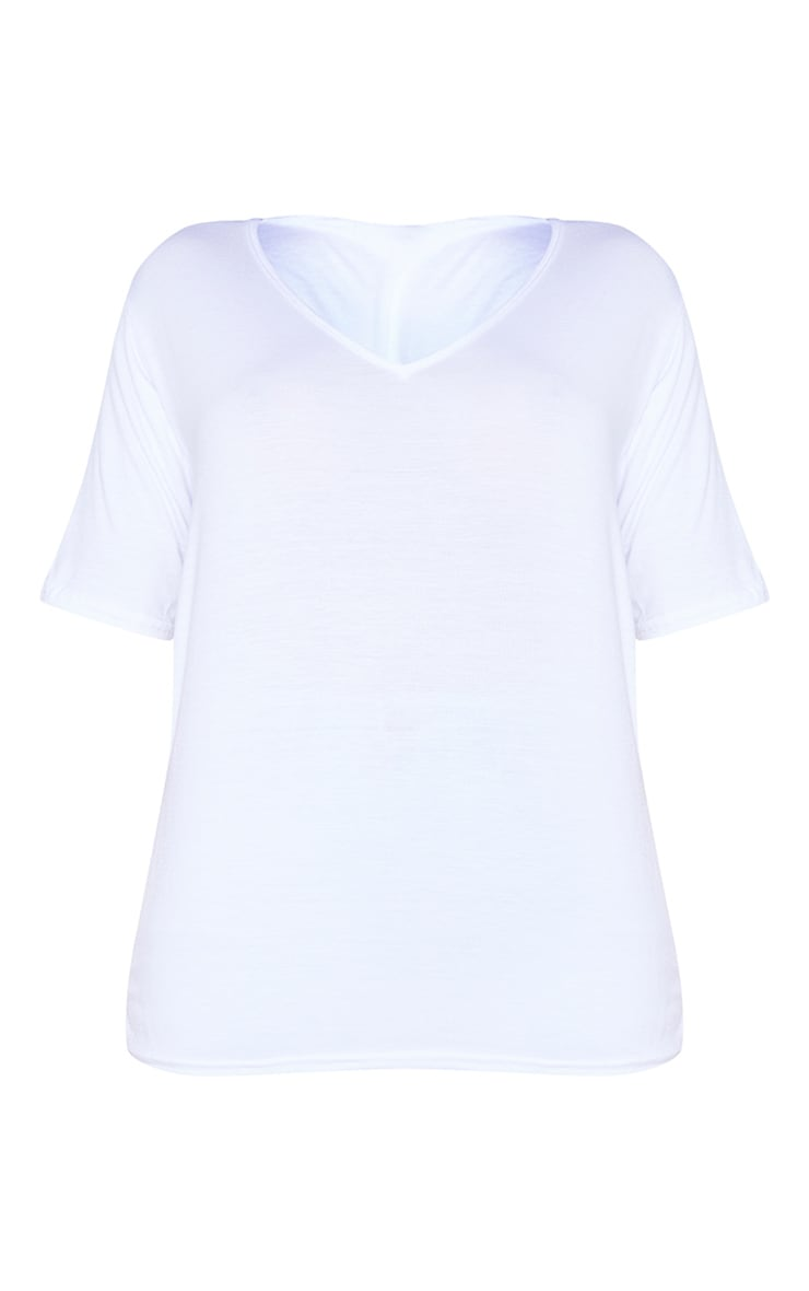 Shape White V Neck Tshirt 5