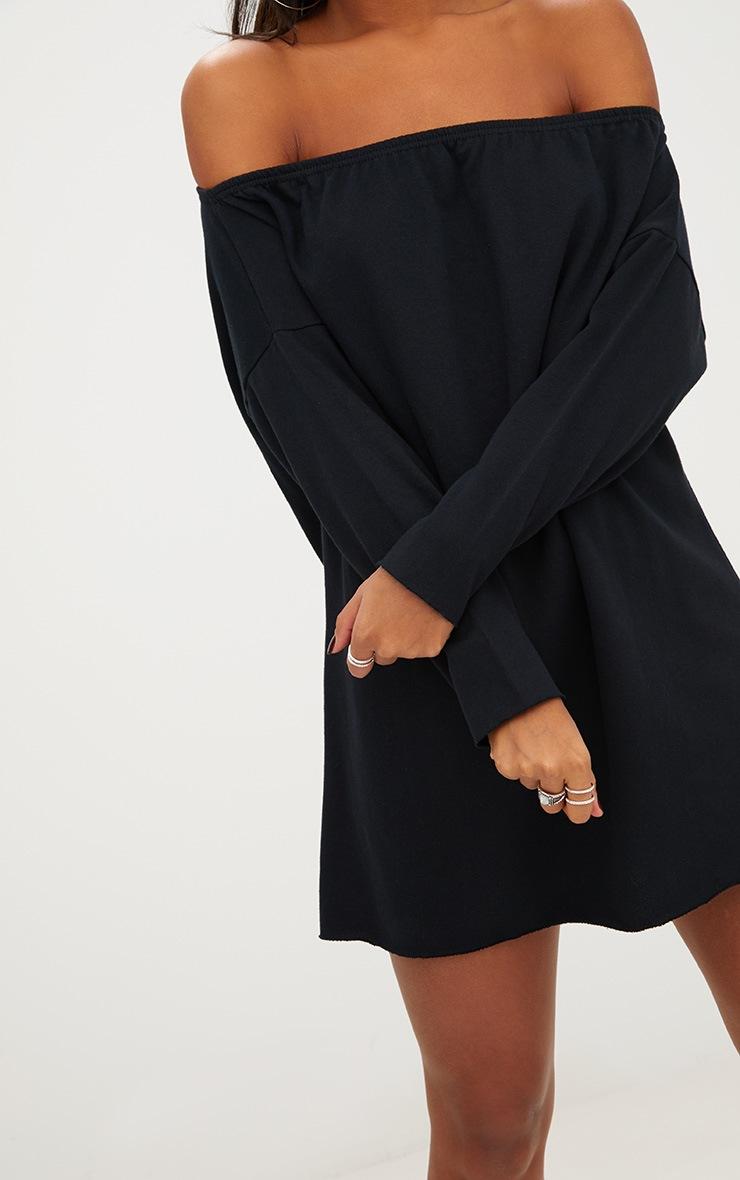Black Bardot Raw Edge Sweater Dress 5