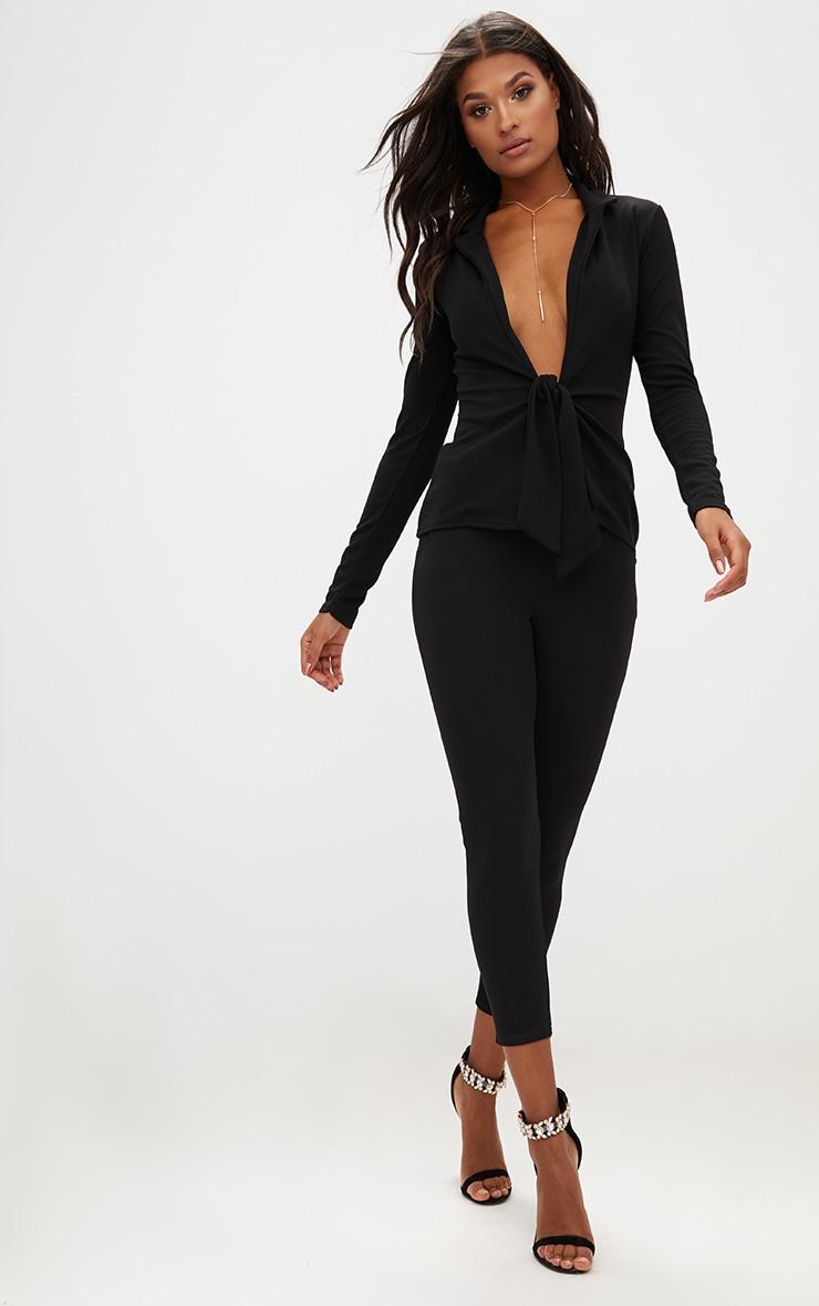 Black Tie Front Blazer 4