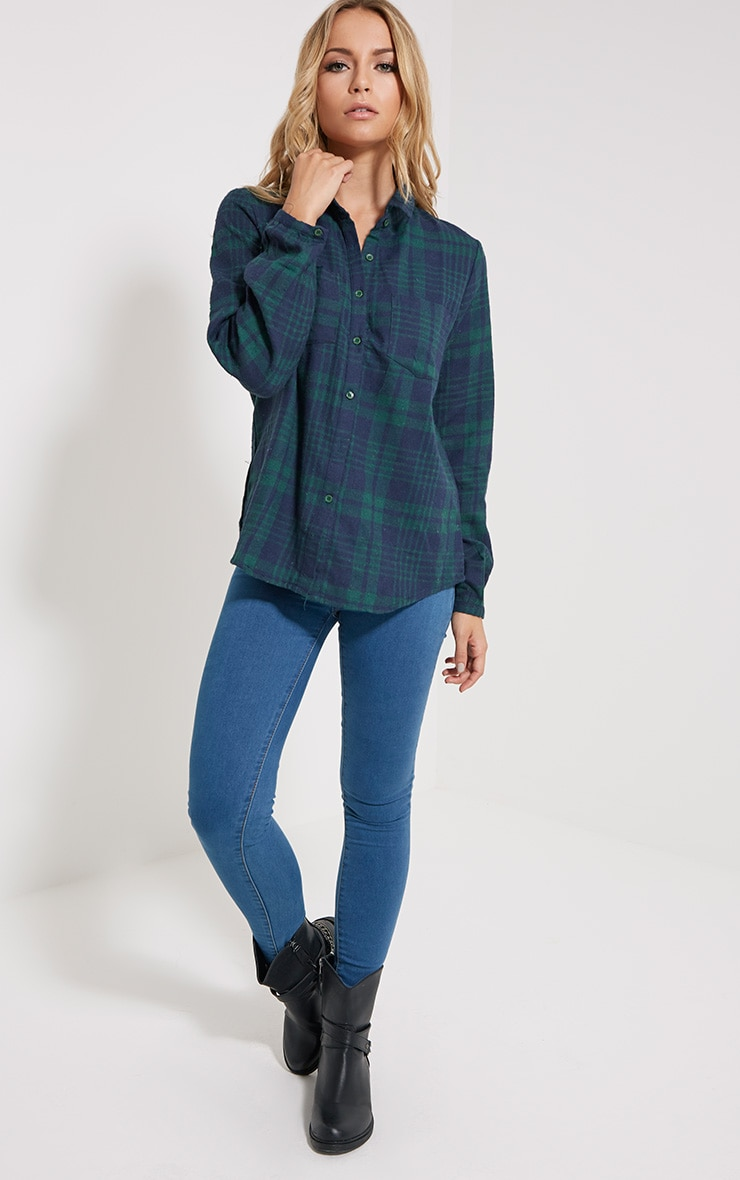 Mariel Green Checked Shirt 3