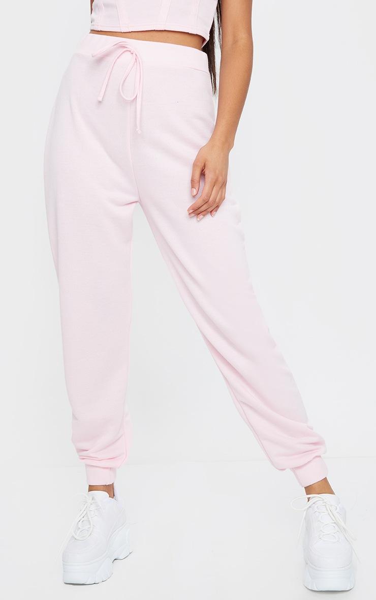 Light Pink High Waist Cuffed Joggers 2