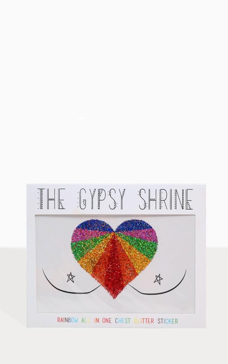 SHRINE Rainbow Glitter Chest Sticker 1