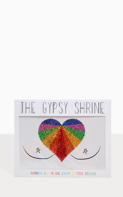 The Gypsy Shrine Rainbow Glitter Chest Sticker